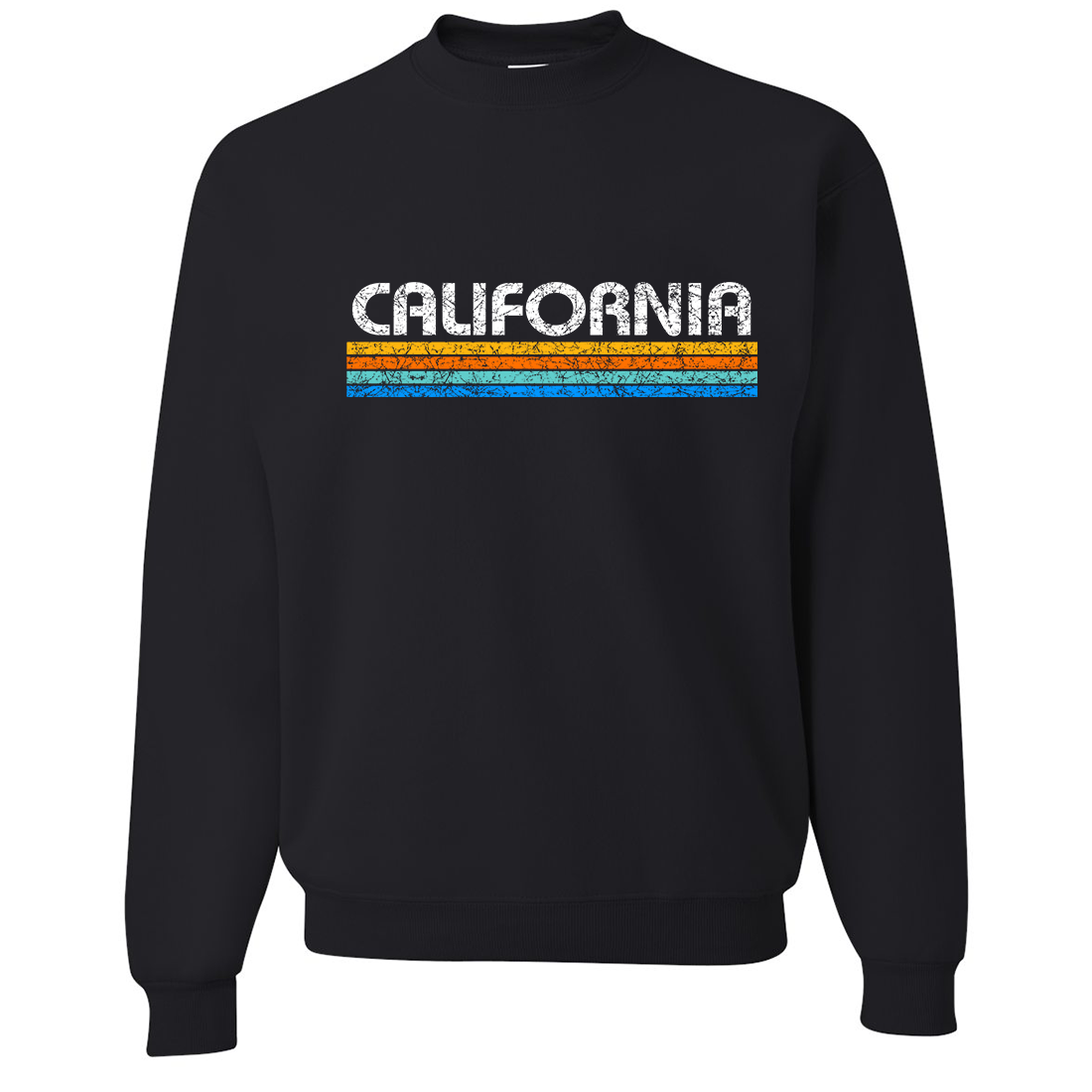 California Vintage Stripe Crewneck Sweatshirt