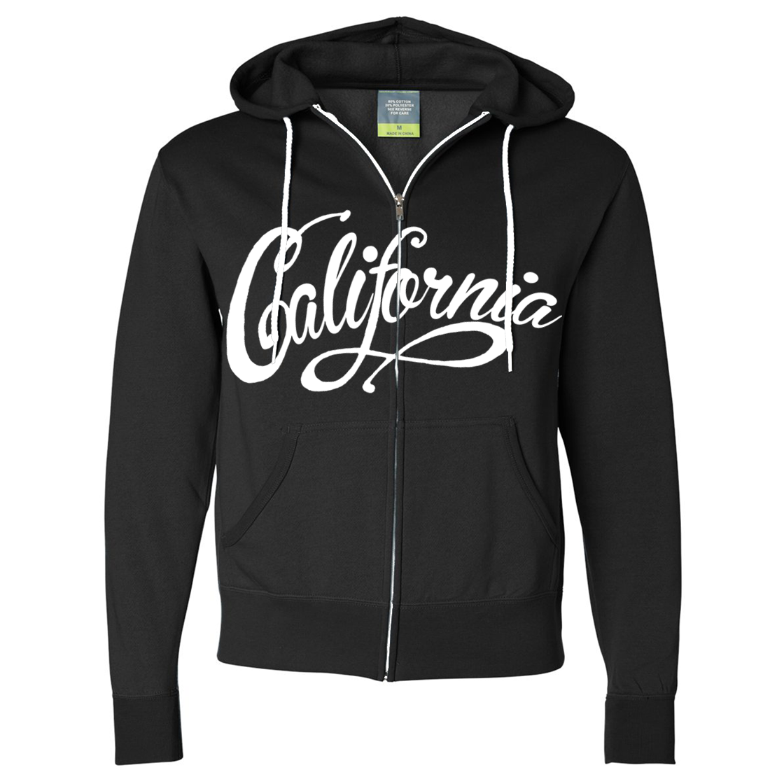 California Beach Script Zip-Up Hoodie