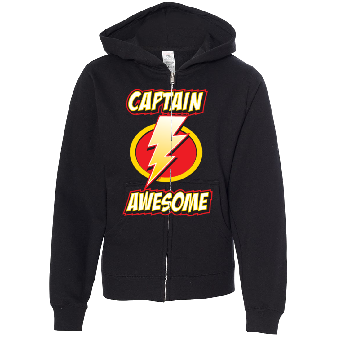 Captain Awesome Premium Youth Zip-Up Hoodie