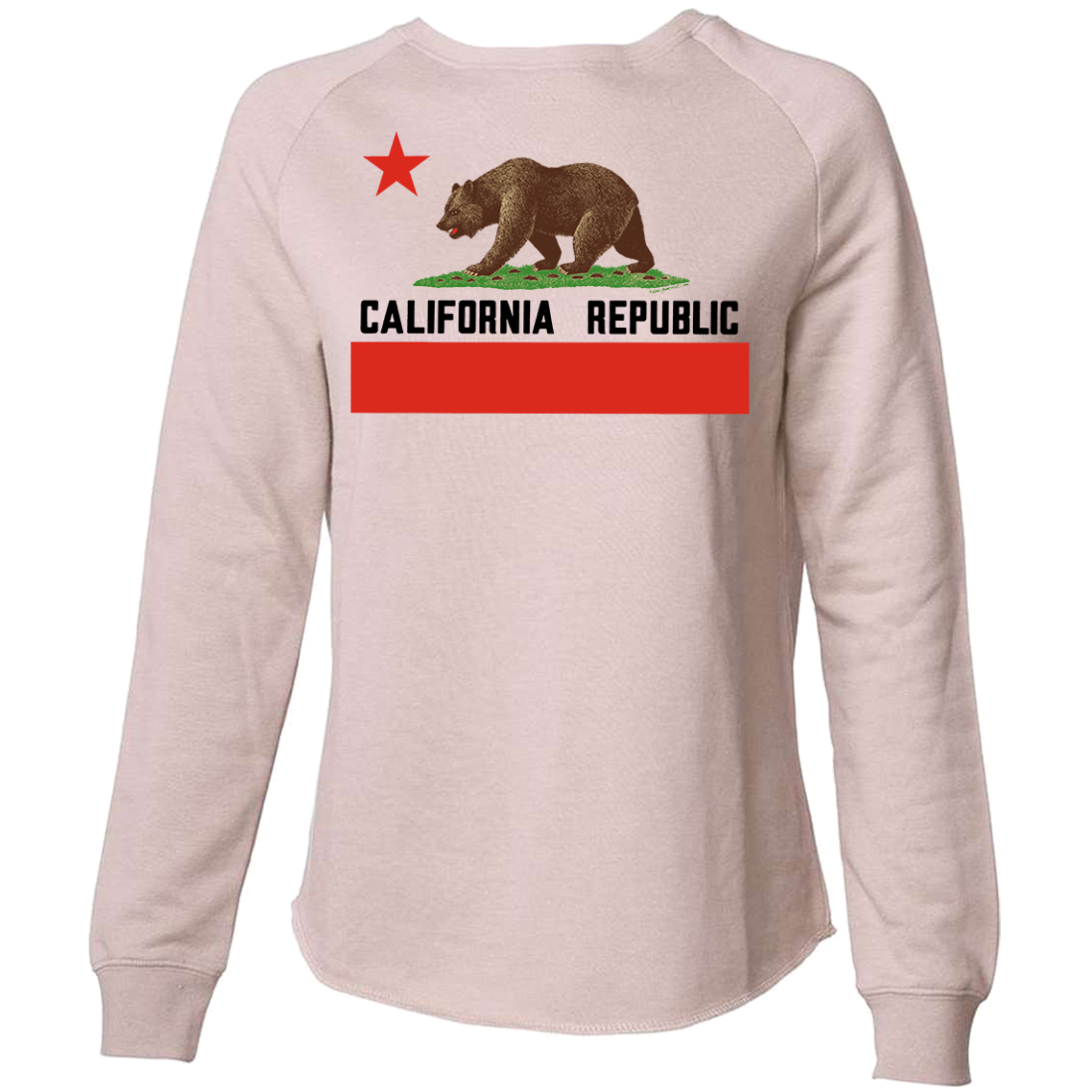 Don Pimentel California Republic Bear Flag Black Text Super Soft Crewneck Sweater