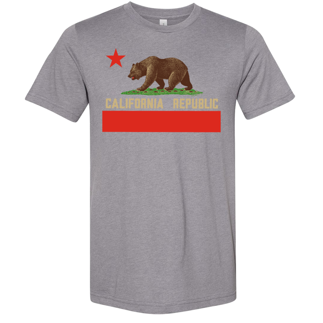 Don Pimentel California Republic Bear Flag Asst Colors Sueded Tee