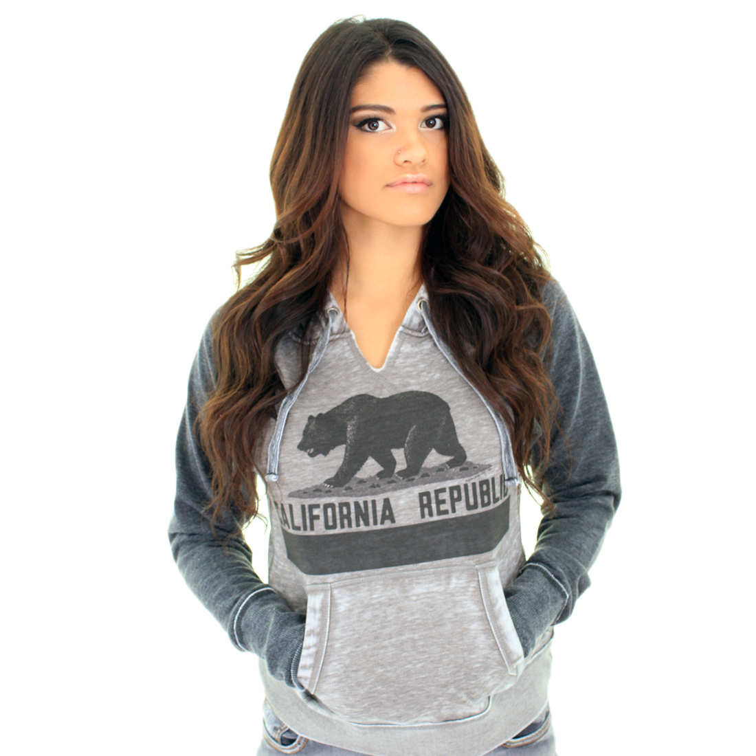 California Republic Vintage Bear Flag Zen Fleece Sweatshirt