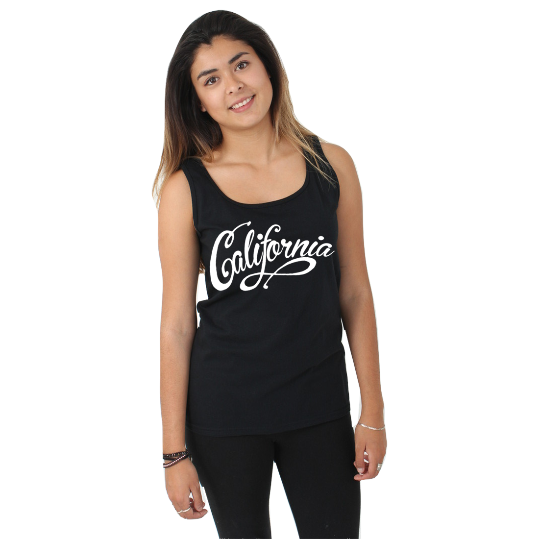 California Republic Beach Script Women's Tank Top