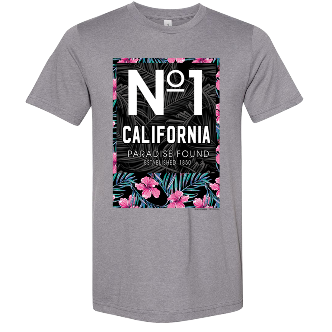 No 1 California Paradise Found Asst Colors Sueded Tee