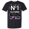 No 1 California Paradise Found Asst Colors Mens Lightweight Fitted T-Shirt/tee