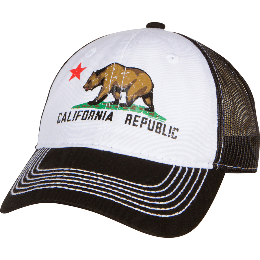 e341bb51689 California Republic Screen Print Trucker Hat - Black