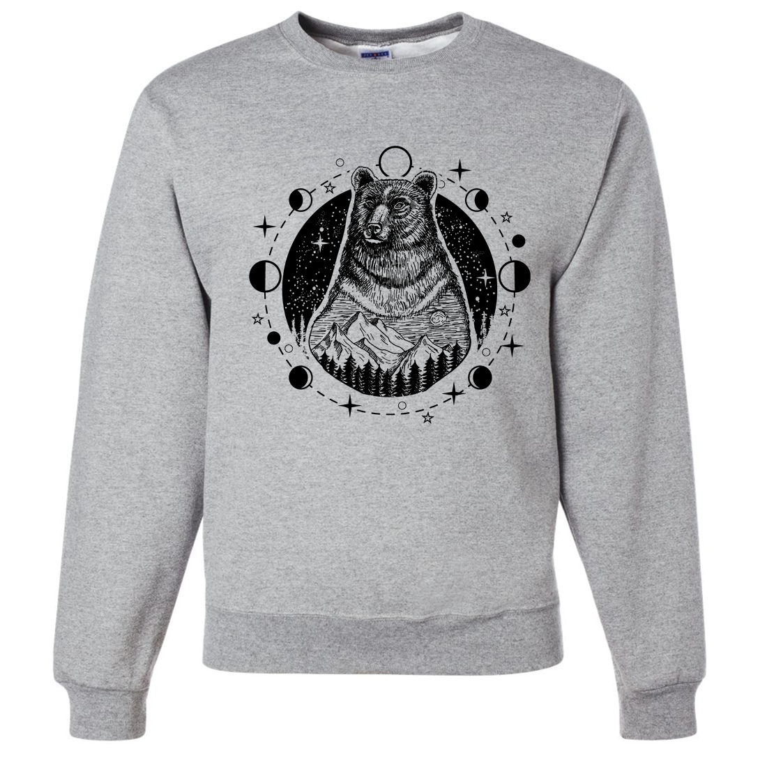 Psychic Moon Forest Grizzly Crewneck Sweatshirt