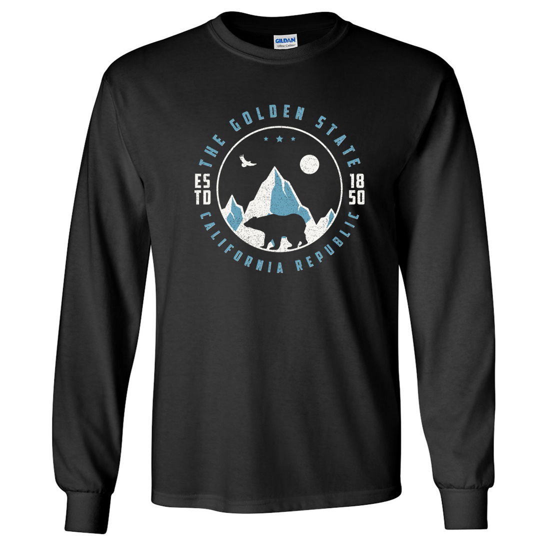 Snowy California Mountains Long Sleeve Shirt
