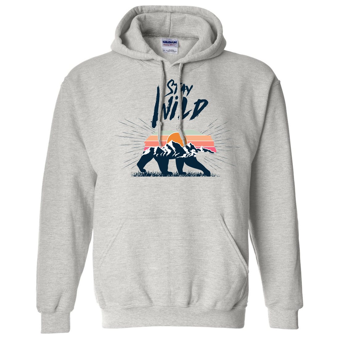 Stay Wild Sunset Bear Sweatshirt Hoodie