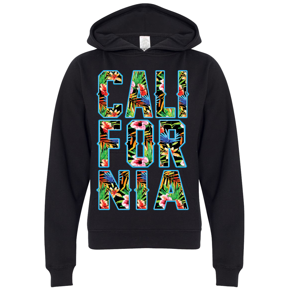 Tropical California Floral Print Premium Youth Sweatshirt Hoodie