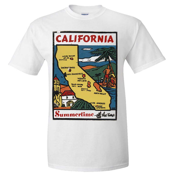 Vintage State Sticker California Asst Colors T-shirt/tee