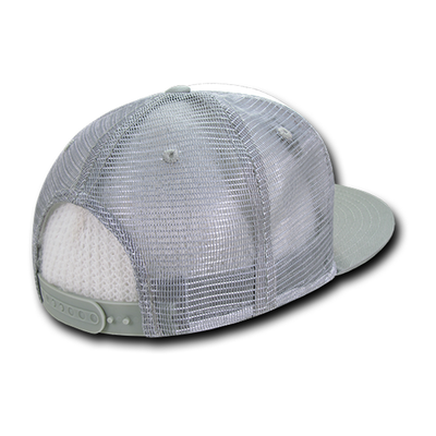 California Republic Five Panel Trucker Hat in Grey