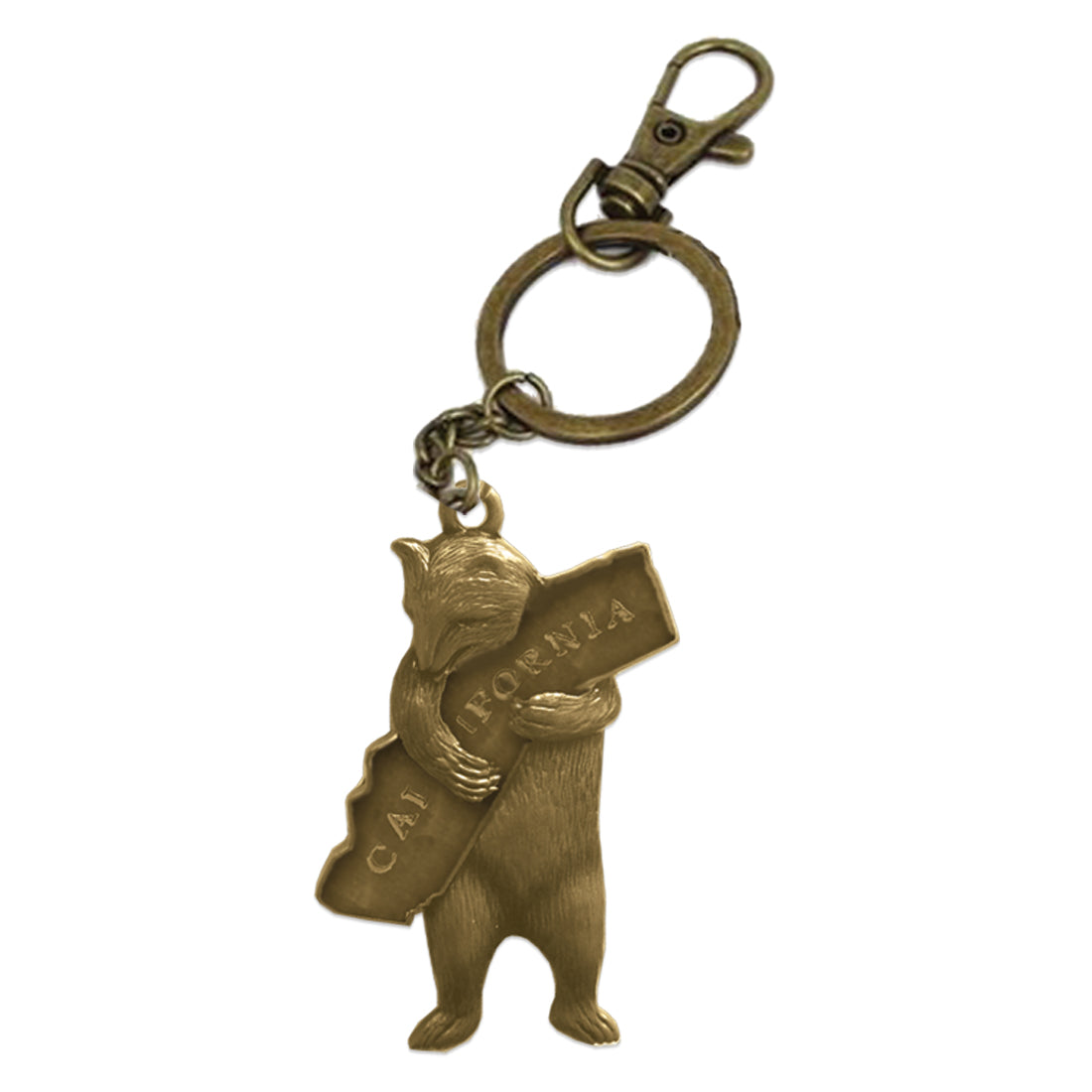 California Bear Hug Keychain