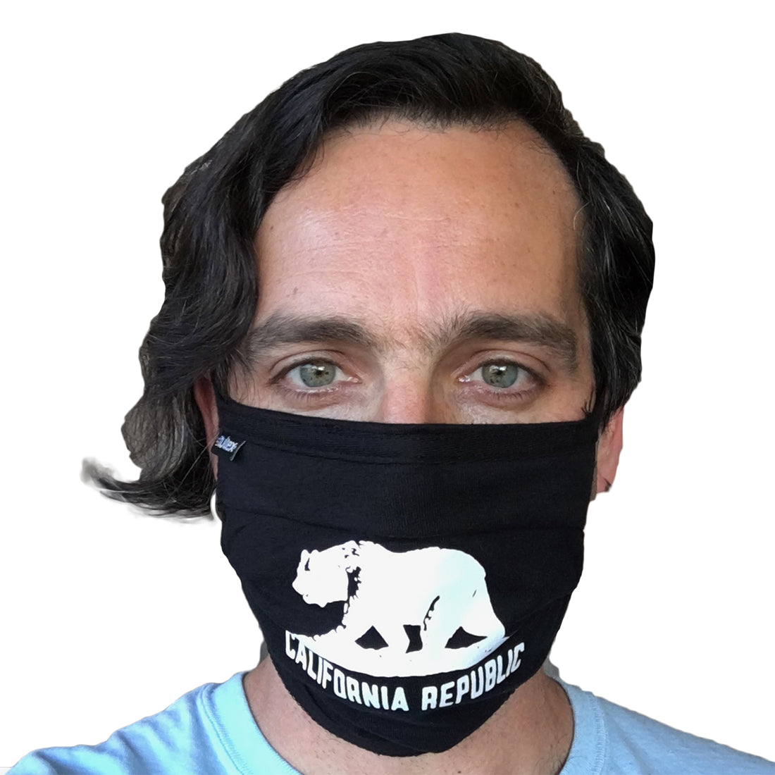 California Republic Premium Black Face Mask