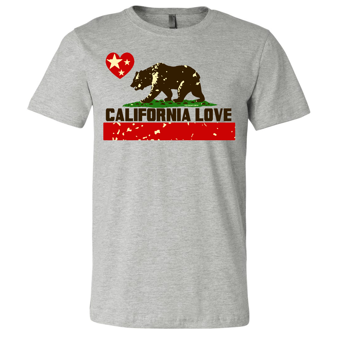 California Love Asst Colors Mens Fitted Tee