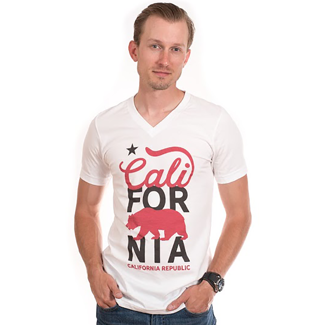 Cali For Nia Asst Colors V-Neck