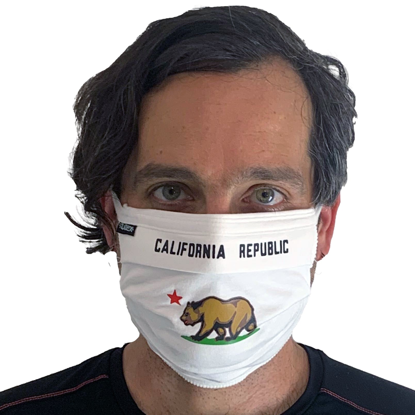 California Republic Bear Flag Face Mask