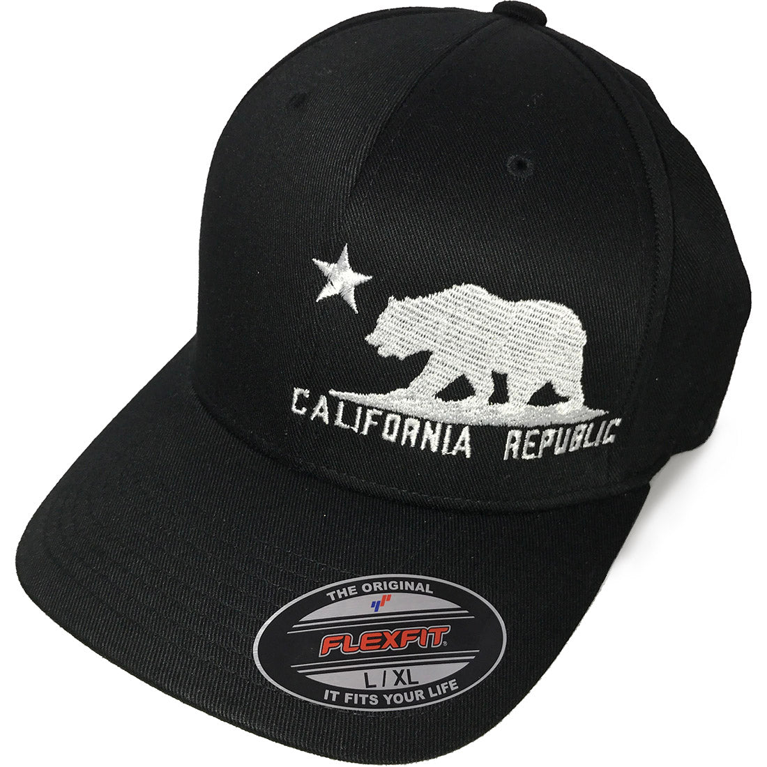 California Flag Flexfit Baseball Hat