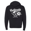California Sun & Fun Premium Unisex French Terry Full-Zip Sweatshirt - Black