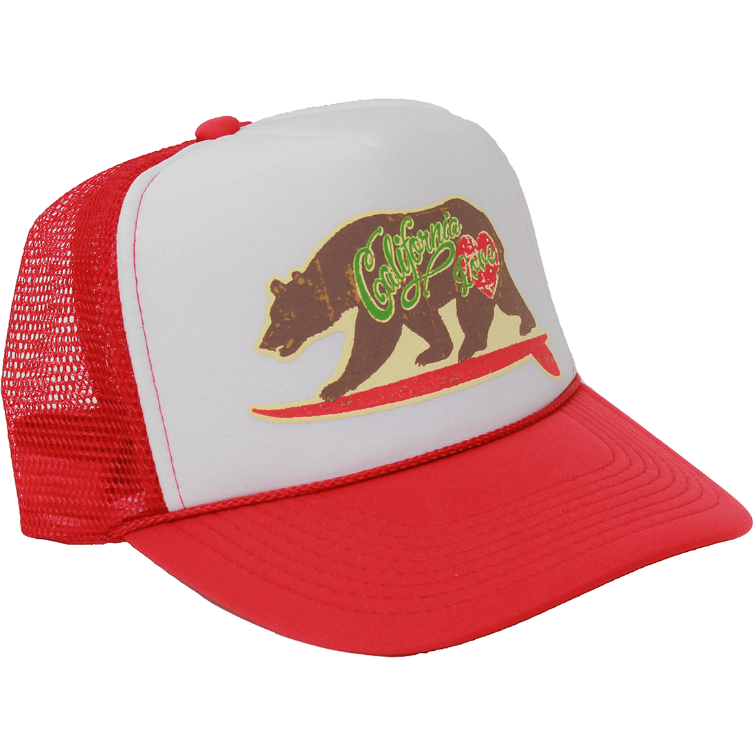 California Love Surfboard Truckers Cap