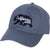 California Bear Felt Appliqué Baseball Cap - Marine Blue