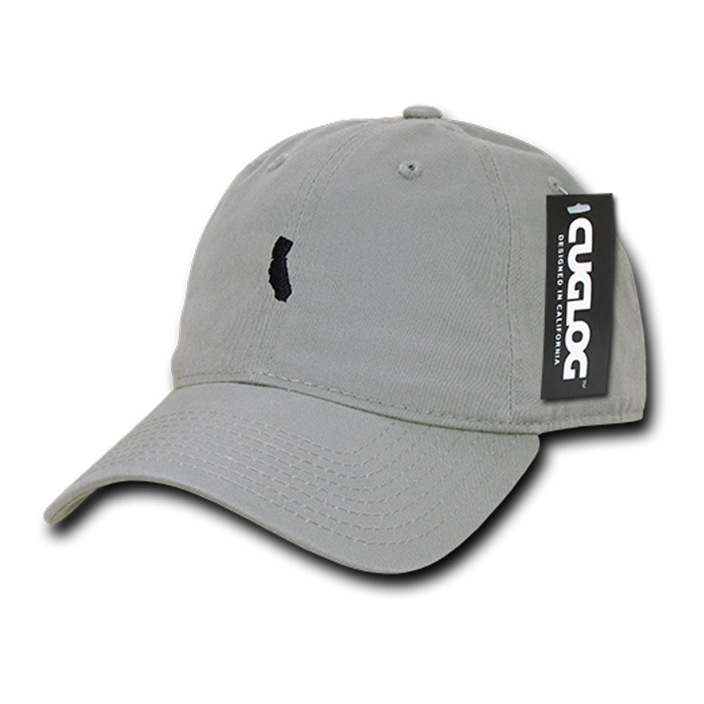 Cali State Dad Hat in Grey by Cuglog