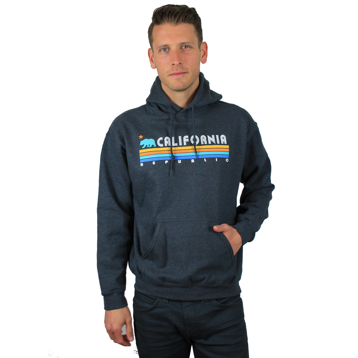 California Republic Vintage Stripe Sweatshirt Hoodie