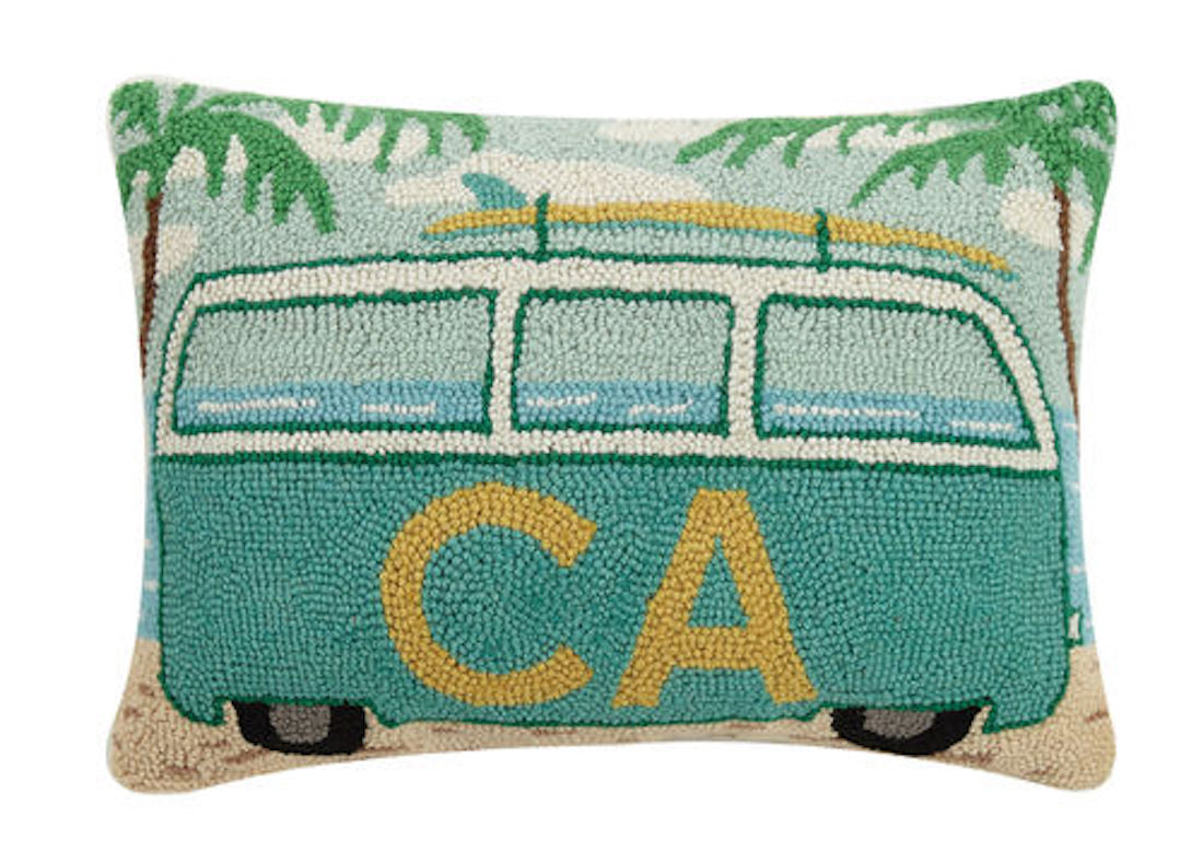 California Vacation Bus Pillow
