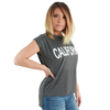 California Bold Text Flowy Muscle Tee