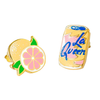 La Queen and Grapefruit Earrings - J217