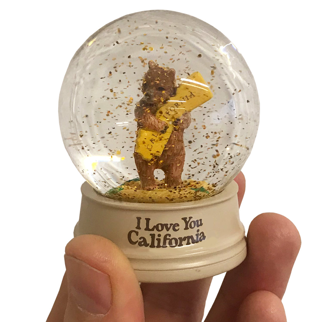 California Bear Hug Mini Snow Globe