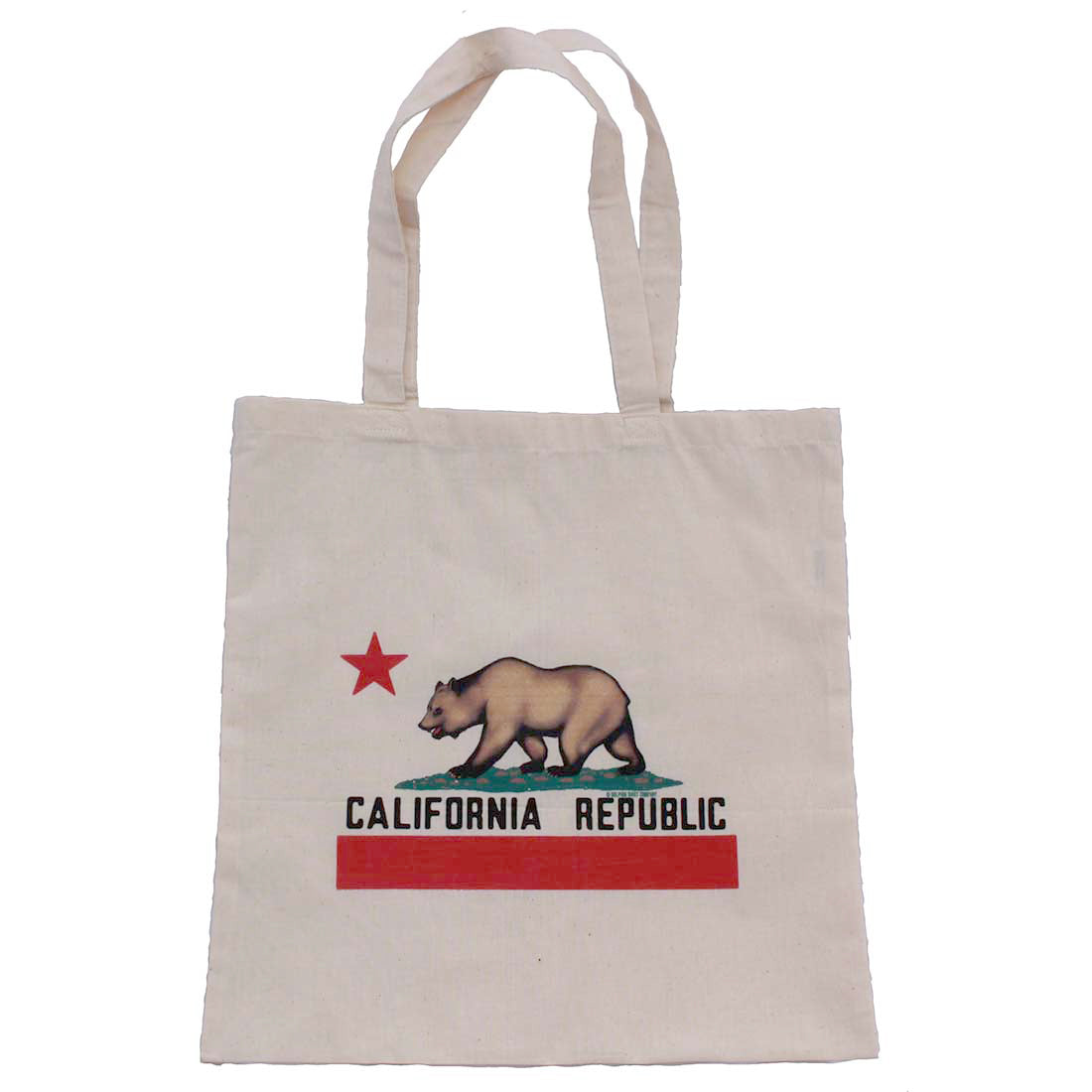 California Republic Reusable Canvas Tote Bag