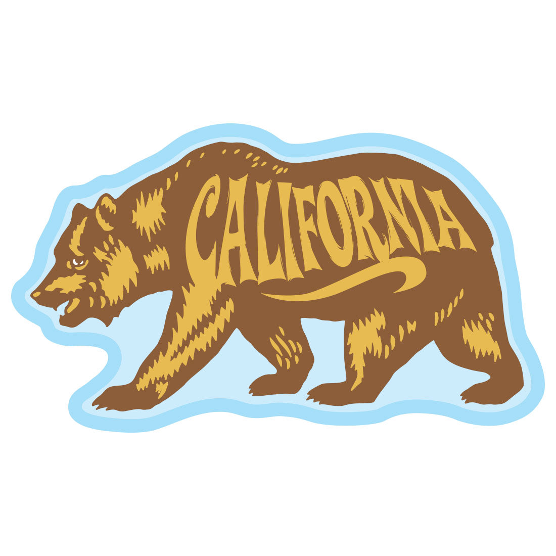 California Bear Sticker by Tim Ward