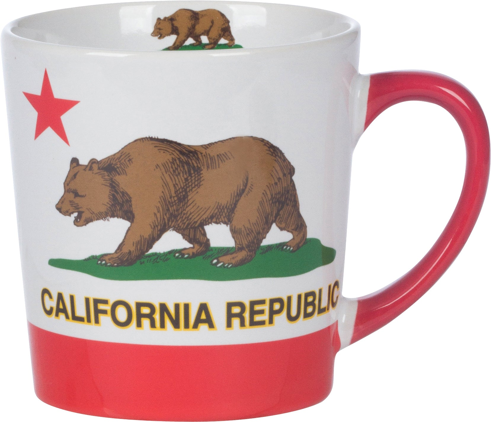 California Republic Red Star Ceramic Mug
