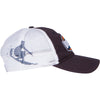 California Usa Surf Embroidered Trucker Snapback Hat - Navy/White