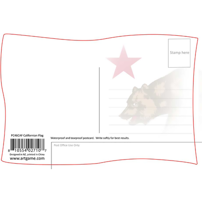 California Republic Flag 3d Postcard