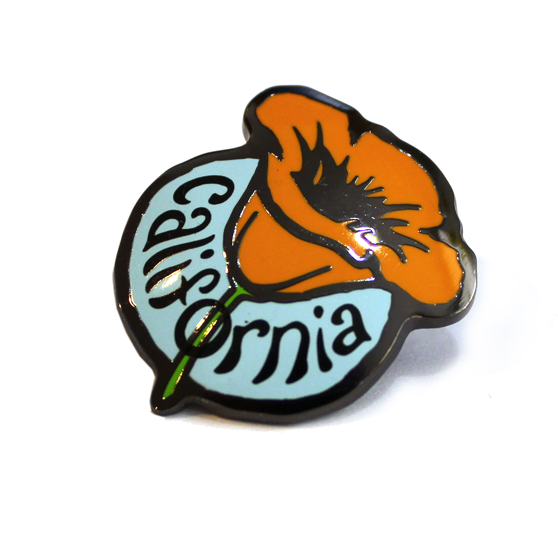 California Poppy Pin