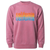 California Repeat Text Pigment Dyed Crewneck Maroon