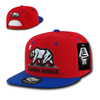 California Republic Cali State Bear Flag Snapback Hat by Whang Red Royal