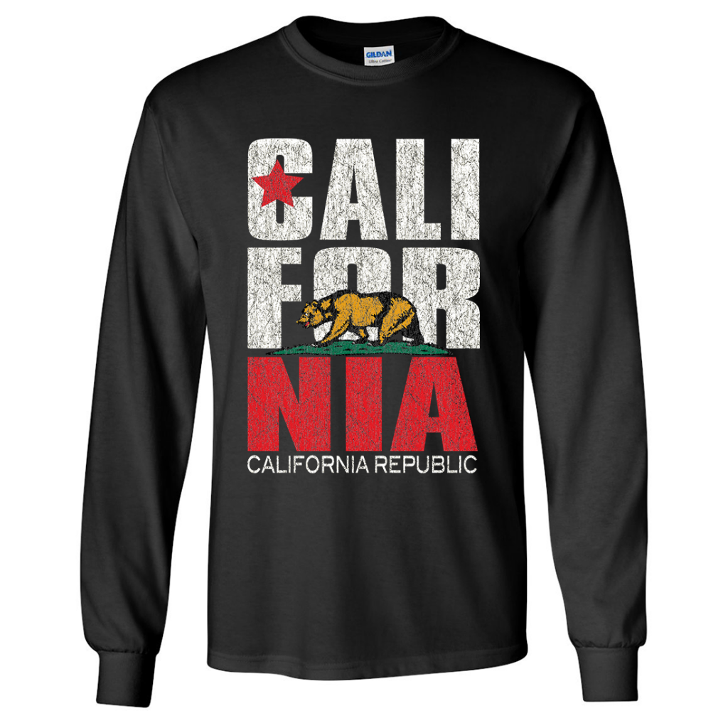 California Vintage Retro Bold Asst Colors Long Sleeve Shirt