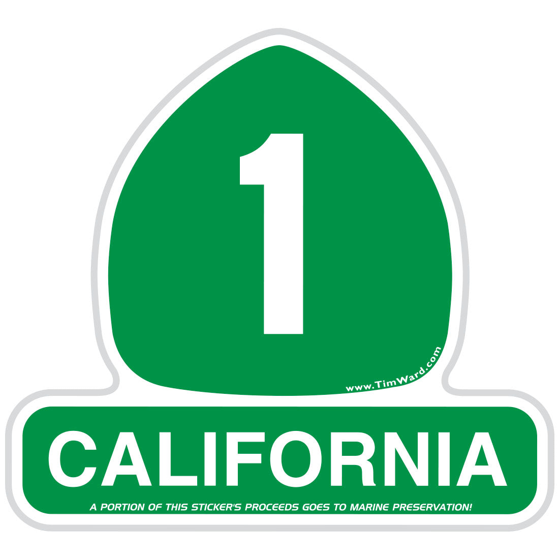 California Highway 1 sign sticker