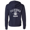 California Vintage Genuine Article Premium Unisex French Terry Full-Zip Sweatshirt - Heathered Navy