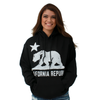 California Flag White Oversized Silhouette Asst Colors Hoodie
