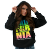 California Flag Neon Retro Text Pullover Hoodie