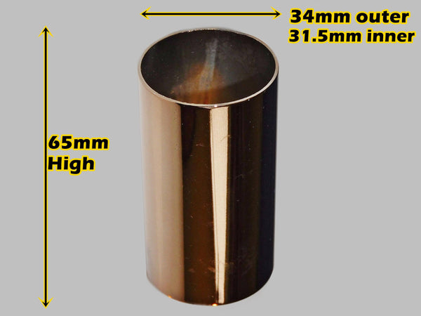 65 mm x 34 mm Copper Chandelier Candle Drips Metal Light Pendant Bulb Cover Antique Style Sleeve Tubes 1
