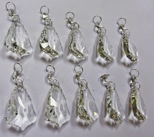 Clear Cut Glass Bell 2 inch Chandelier Crystals Drops Double Facet Transparent Droplets Prisms 11