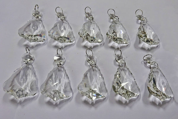 Clear Cut Glass Bell 2 inch Chandelier Crystals Drops Double Facet Transparent Droplets Prisms 10