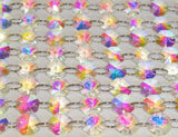 14mm Octagon AB Iridescent Chandelier Droplets Glass Crystals Garlands Beads