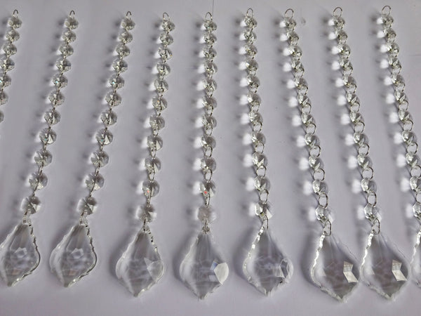 Clear Glass Leaf 270 mm / 10.8 inch Chandelier Chain of Drops Crystals Beads Garland Pendant Decoration 5