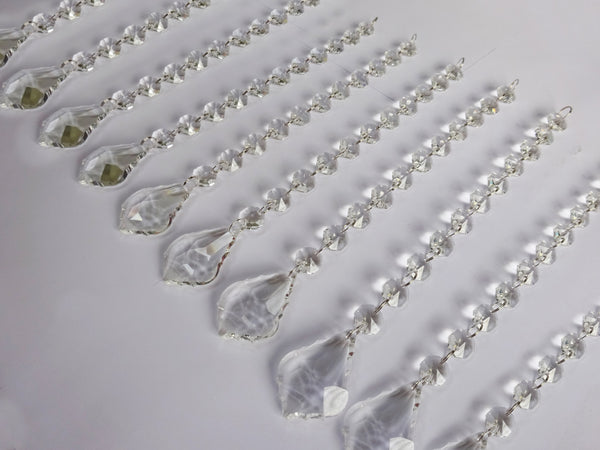 Clear Glass Leaf 270 mm / 10.8 inch Chandelier Chain of Drops Crystals Beads Garland Pendant Decoration 6